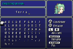 Final Fantasy VI Advance Very Large Menu Font