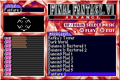 Final Fantasy VI - Sound Restoration hack and few framerate drop