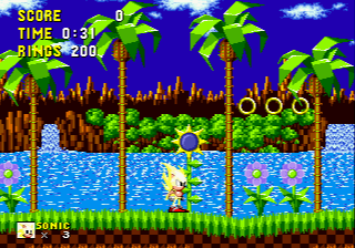 Super Sonic in Sonic the Hedgehog