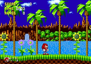 Knuckles in Sonic 1