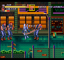 Earthworm Jim in Streets of Rage 2