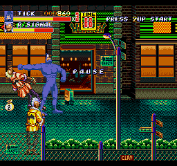 The Tick in Streets of Rage 2