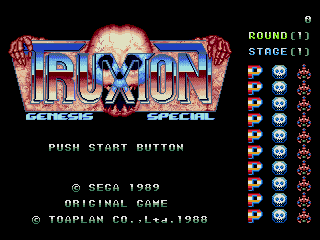 Truxton/Tatsujin Arcade colors/sprites/backgrounds