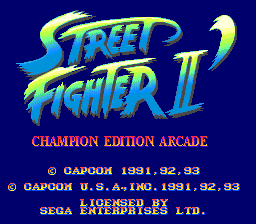 Street Fighter 2 Champion Edition Arcade Hack