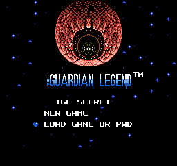 Guardian Legend Secret Edition - SRAM Saving Edition