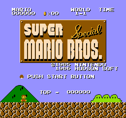 Romhacking net - Hacks - Super Mario Bros  Special for NES