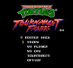 TMNT:Tournament Fighters (Roster Hack)