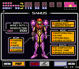Colored Samus Item Window