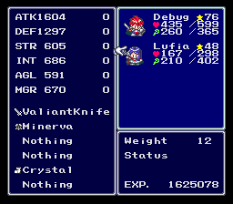 Lufia: And the Fortress of Doom Easy Type