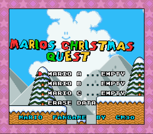 Super Mario World Christmas.Romhacking Net Hacks Mario S Christmas Adventure