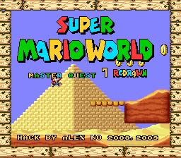 Romhacking net - Hacks - Super Mario World - Master Quest 7
