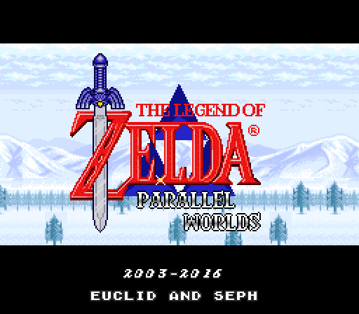 Zelda3 Parallel Worlds v1.23 197titlescreen