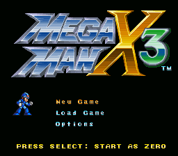 Mega Man X3: Zero Project v4.0 + No armor GFX