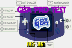 Game Boy Advance D-PAD Test (GBA)