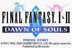 FF 1 and 2 DOS: Mod of Balance
