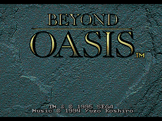 Beyond Oasis Font Refresh