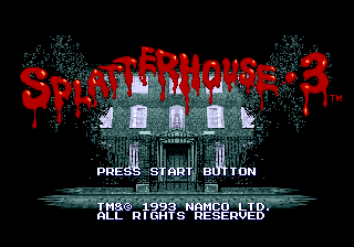 Splatterhouse 3 SRAM