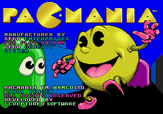 Pac-Mania arcade style tiles/sprites/colors