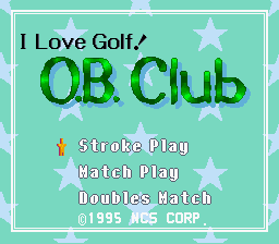Golf Daisuki!: O.B. Club