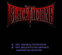 Red Blood For Blackthorne