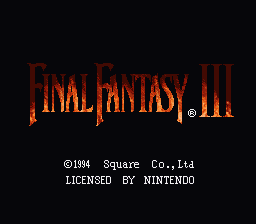 Final Fantasy III: Story Edition.