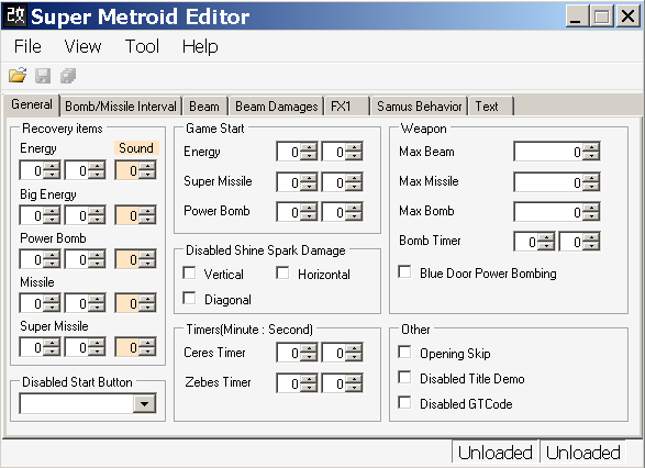 Romhacking net - Utilities - Super Metroid Editor
