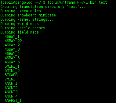 Romhacking.net - Utilities - FF7Tools