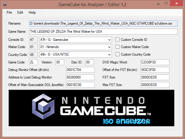 Romhacking net - Utilities - GameCube ISO Analyzer