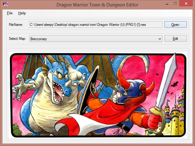 Dragon Warrior Town and Dungeon Editor