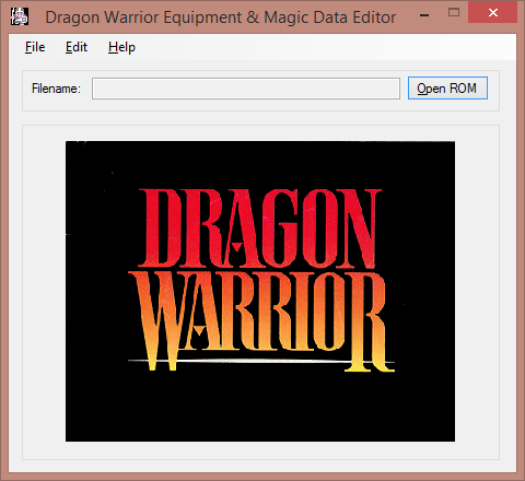 Dragon Warrior Equipment and Magic Data Editor