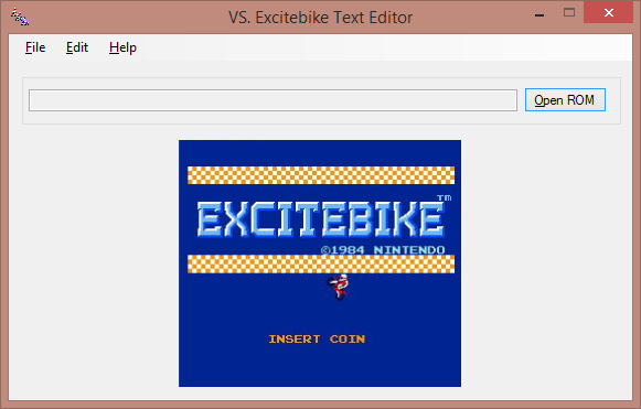 VS. Excitebike Text Editor