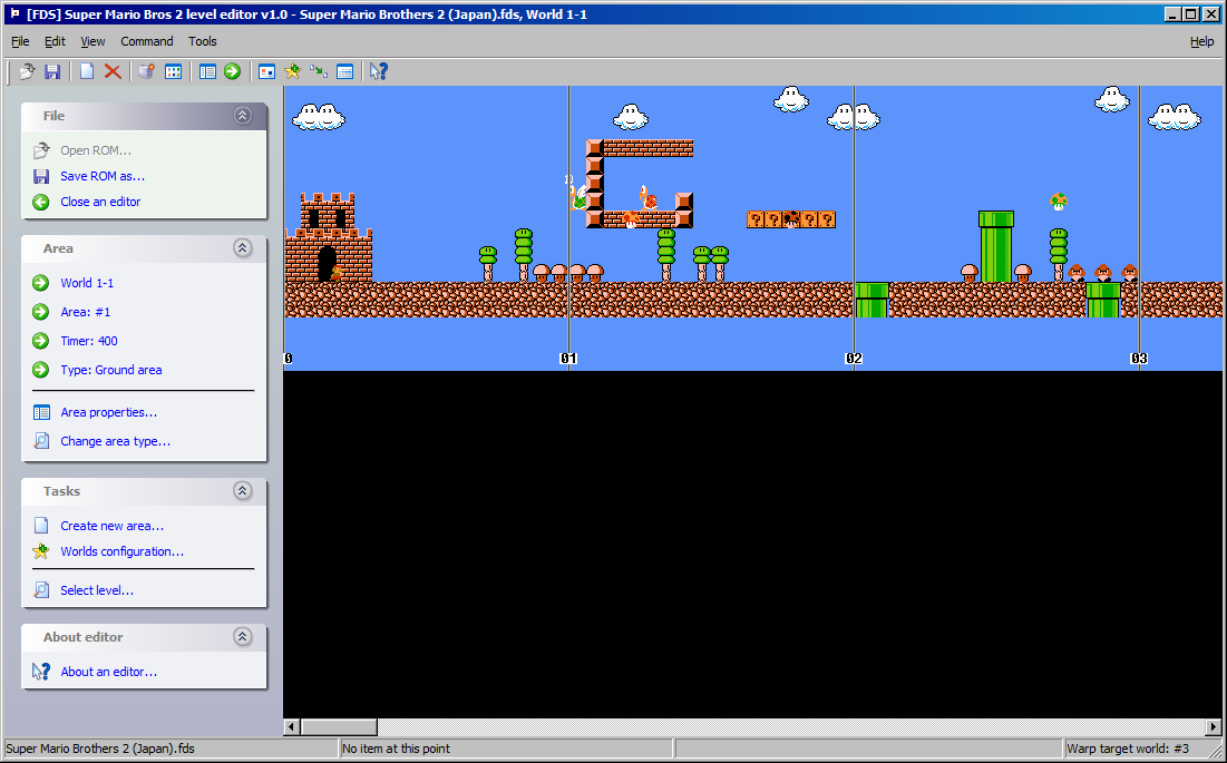 [FDS] Super Mario Bros 2 (Japan) Level Editor - jGreatEd