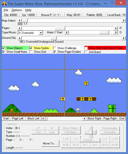 Romhacking net - Utilities - SMB Relocaverburator