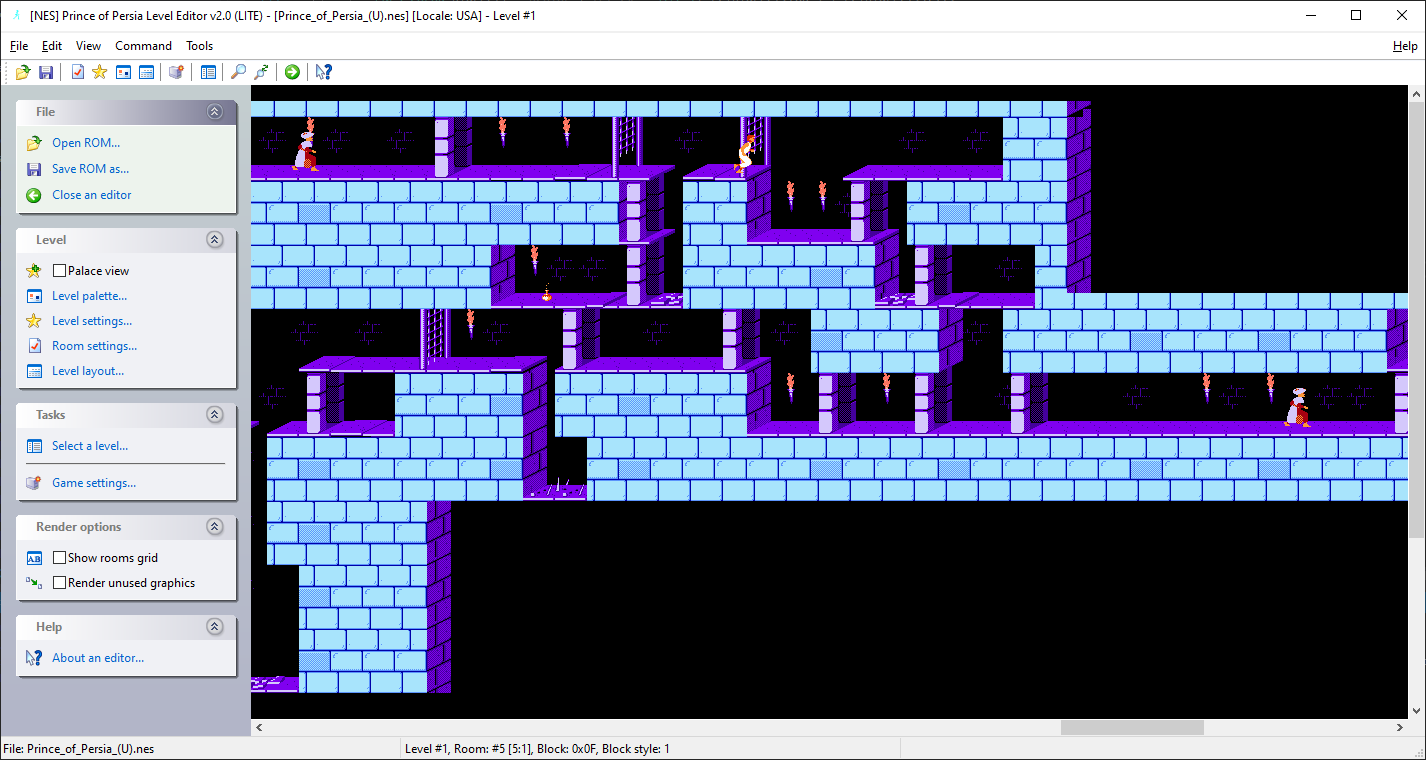[NES] Prince of Persia Level Editor 2.0
