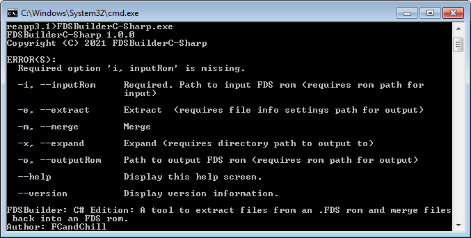 FDS Builder: C# Edition