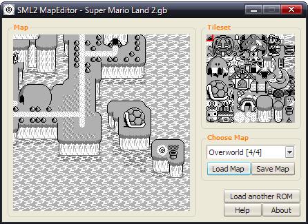 Romhacking net - Utilities - Super Mario Land 2 Overworld Map Editor
