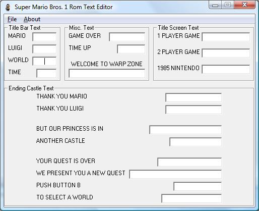 Romhacking net - Utilities - SMB Rom Text Editor