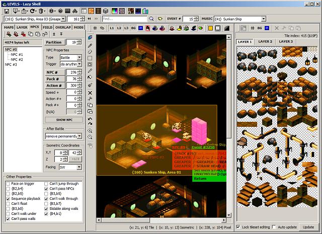 Romhacking net - Utilities - Lazy Shell - Super Mario RPG Editor
