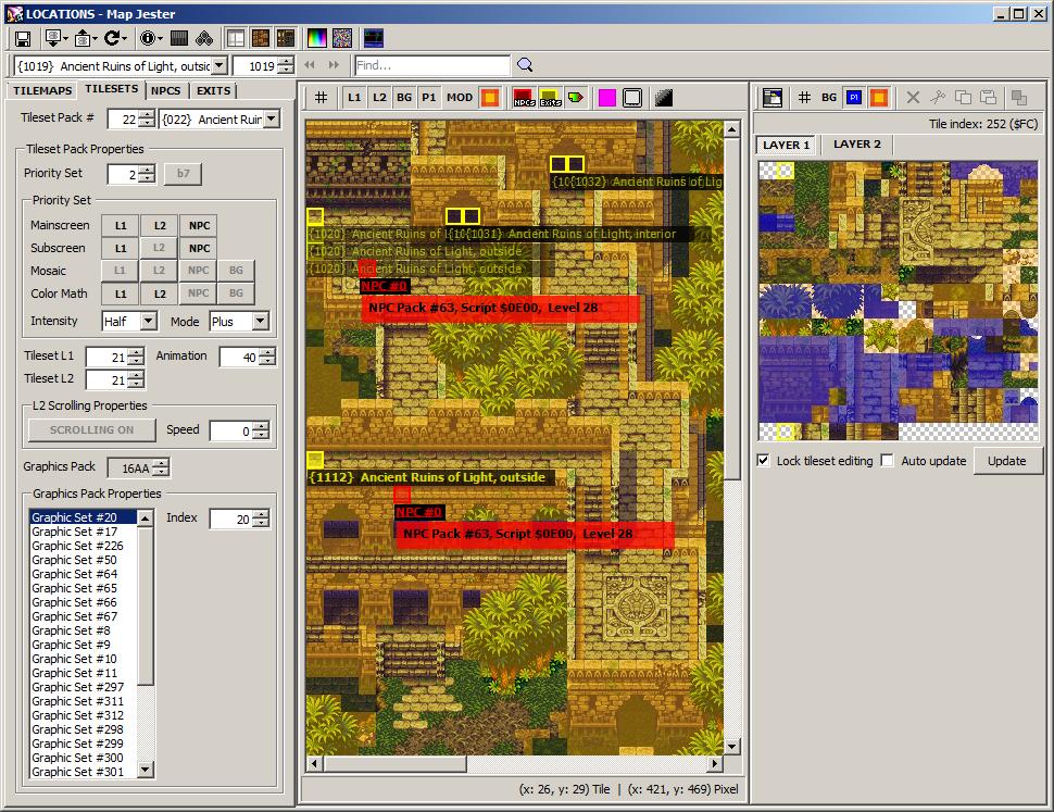 Romhacking net - Utilities - Map Jester - Seiken Densetsu 3 Browser